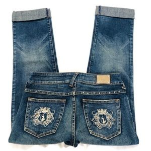 Baby Phat Cuffed Cropped Jeans Sz 5
